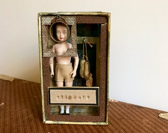 Slippers, Assemblage Art, Assemblage, iPhone Box, Vintage Doll, Alered Box