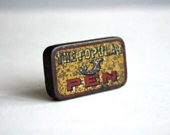 vintage the popular j pens tin