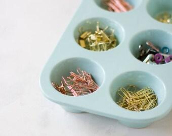 Mint Green Storage Ceramic Organizer