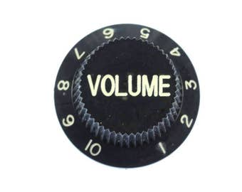 Poti guitar volume Brooch pin Badge Miniblings volume knobs black