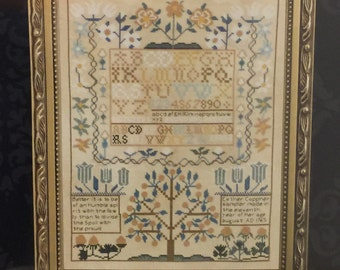 Esther Copp Sampler Cross Stitch Kit Bucilla Heirloom Collection 28 Count Evenweave
