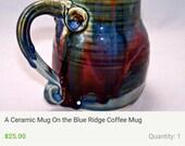 Handmade ceramic mug custom remake similar