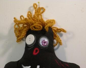 Black 'Oh NO'  art doll
