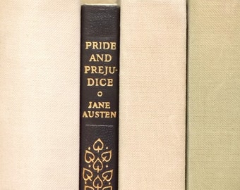Pride and Prejudice book by Jane Austen vintage book with faux leather finish