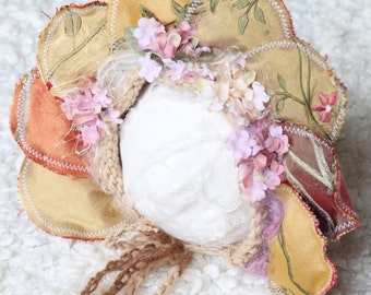 new born prop,new born prop,flower bonnet