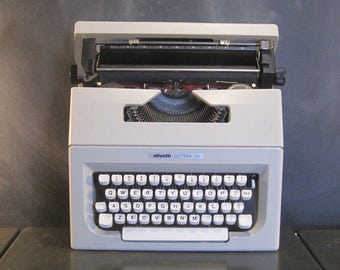 Vintage Olivetti Lettera 30 Portable Typewriter with Case