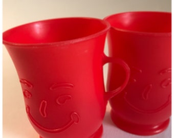 Set of TWO 1980's Kool Aid cups