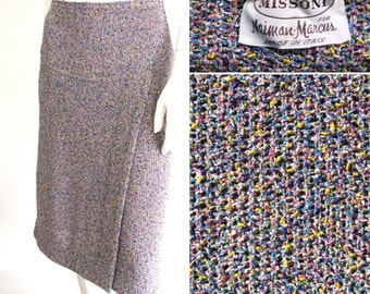 Vintage 1970s Missoni for Neiman-Marcus Pastel Knit Skirt