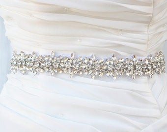 Wedding Belt, Bridal Belt, Sash Belt, Crystal Rhinestones sash belt, Party Sash,vintage sash belt