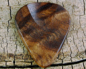 Figured Black Walnut - Grain Patterns and Colors Vary - Wood Guitar Pick