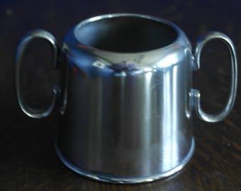 antique silver plate sugar bowl