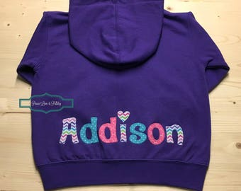 Personalized Hoodie, Baby Hoodie, Toddler Hoodie, Personalized Sweatshirt, Personalized Toddler Hoodie, Toddler Birthday Gift, Addison