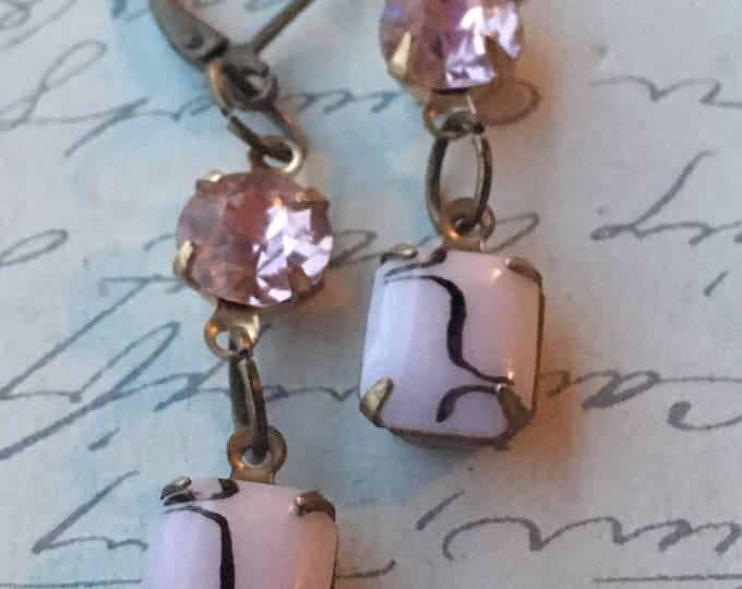 Vintage Jewelry, Earrings for Women, Swarovski Earrings, Crystal Earrings,