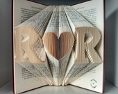 First Wedding anniversary Gift-Initial Folded Book Art-wedding decor/gift for him/her-gift for bookworm