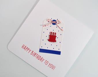 Birthday Card - Happy Birthday to You - Cake Birthday Card