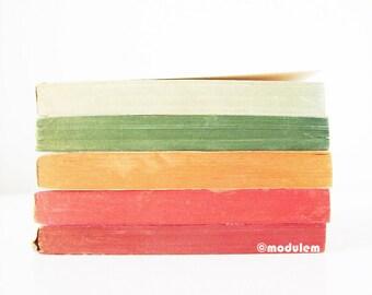 An afternoon in Antigonish - Minimalist Modern Print, vintage books photo, red, golden yellow, white, green, Nova Scotia, 8x8, 8x10