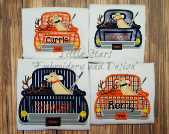 Truck Hunting Appliqued and Personalized