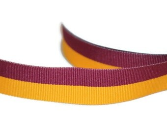 Maroon and Gold Dog Collar Maroon Stripe Collar and Leash Gold Dog Collar Yellow and Maroon Collar Spring Dog Collar Large Dog Collar