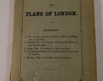 1900 Baedeker Maps and Streets of London - FREE SHIPPING