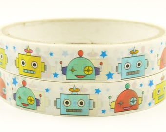 Robby the Robot 02 - Translucent Narrow Sticker Tape - 13 yards