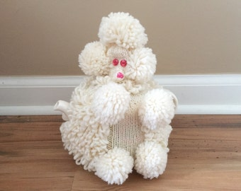 Poodle Tea Cozy - Teapot Cover - White Poodle Teacozy - Gift for Dog Lover