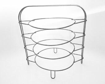 Pie Cooling Rack - Pie Carrier - Baking Pies - Vintage Cooling Racks - Mid Century Kitchen Utensils - Pie Plate Retro Kitchen Decor - Rustic