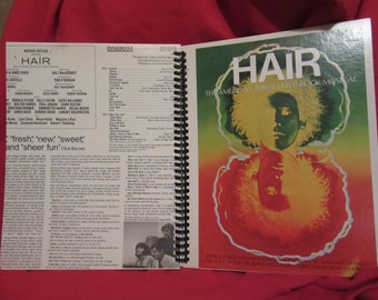 Hair Original Broadway Cast Record Album Cover Notebook