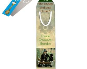Colonel Brandon Aluminium Bookmark