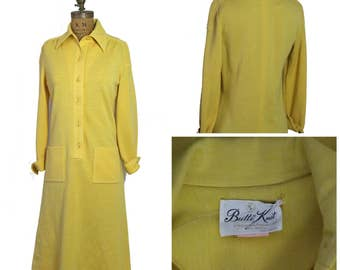 1970s Goldenrod Butte Knit Dress