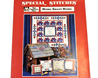 That Patchwork Place Home Sweet Home Special Stitches Leaflet,Cross Stitch Quilt Applique Patterns,House Heart Flower Designs itsyourcountry