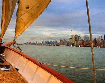 sailing in NY Harbor