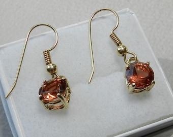 Oregon Sunstone Dangle Earrings !   #58