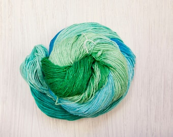Lakeshore Silk Lace Weight Yarn - Green and Blue
