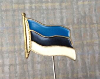 "Vintage Estonian badge,pin. ''Estonian flag""'."