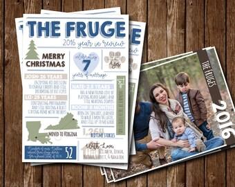 Printable Infographic Holiday Card