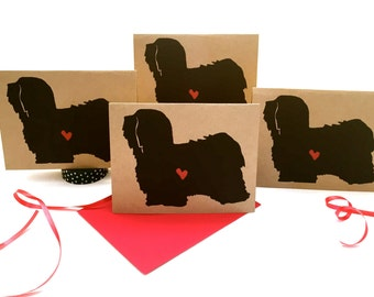 Havanese Card Set % to ANIMAL RESCUE ECO Friendly Pack Blank Cards Holiday Thank You Birthday Christmas Gift Wrap, Red bulk dog pet sympathy
