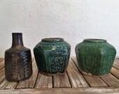 Vintage Set of 3 Art Pottery Vases