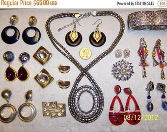 20 OFF SALE, Vintage Jewelry (Lot 85). Big, Medium & Small.