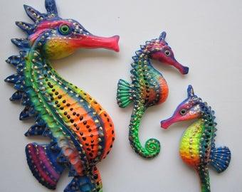 Seahorse home decor, seahorse wall decor, seahorse wall hanging, seahorse art sculpture