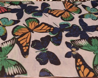 Vintage  Butterfly  Wrap,Throw,Wall Hanging,Accessory,Home Decor,Garden Theme,Butterflies,Birthday Gift,Holiday Gift