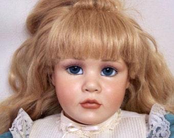"90s Pamela Phillips Originals Jesse / Jessie  - 25"" Porcelain Hand Made Artist Doll"