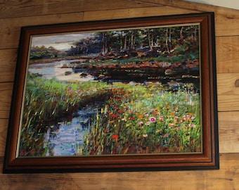 Lau Chun Landscape Giclee on Canvas Signed