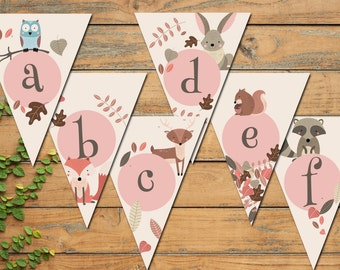 DIY Woodland Banner All Letters! A-Z!