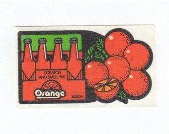 SALE Orange Soda Scratch and Sniff Vintage Mello Smello Sticker - 80's Citrus Scented