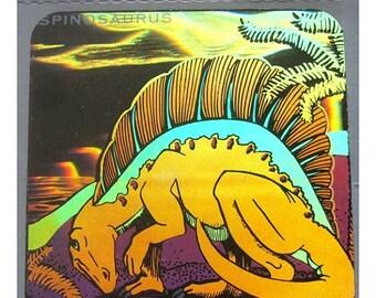 SALE Rare Vintage Hologram Dinosaur Sticker Holographic Spinosaurus
