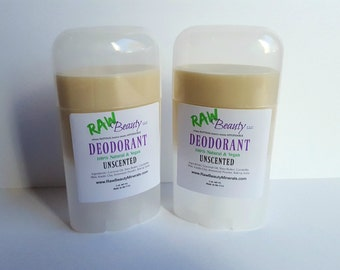 Aluminum Free Deodorant - Unscented Deodorant - Natural Deodorant - Natural Body Stick by RAW Beauty LLC