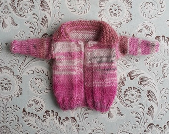 Shades of Pink Mohair Wool Blythe Cardigan