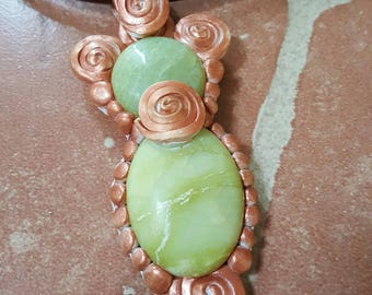 Green Gemstone Bead Necklace, Out Of Time Designs