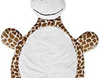 "My Bubba Natural Giraffe Soft Cuddle MINKY KIT from Shannon Fabrics - Approx size is 24"" x 42"""