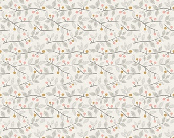 Twigs and Berries Pink from Blend Fabric's Sweet Dreams Collection by Maude Asbury